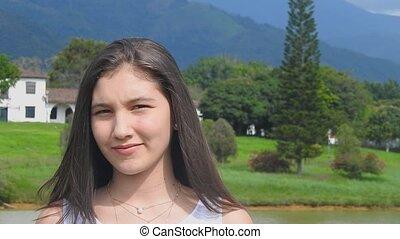 Teen Girl In Rural Area