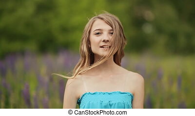 Teen girl in the meadow