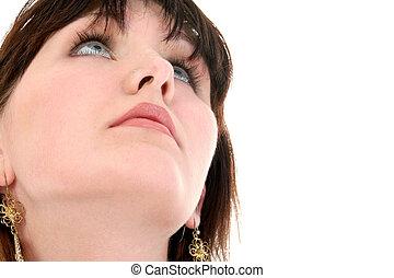 Teen Girl Looking Up