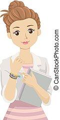 Teen Girl Lucky Charm Illustration