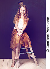 Teen girl model. Little princess