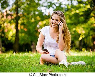 Teen girl - modern world