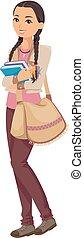 Teen Girl Native American Indian Student