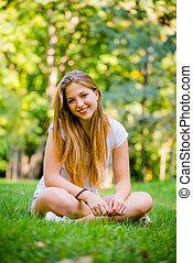 Teen girl nature portrait