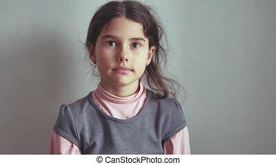 Teen girl no shaking her head gesture is not denial, emotion...