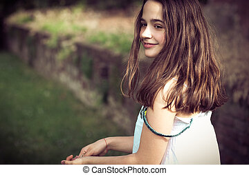 teen girl portrait outdoor