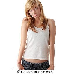 Teen girl portrait