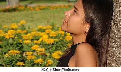 Teen Girl Resting