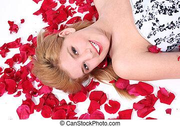 Teen Girl Roses