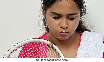 Teen Girl Sad Athlete