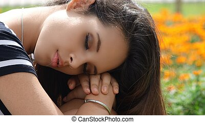 Teen Girl Sleeping