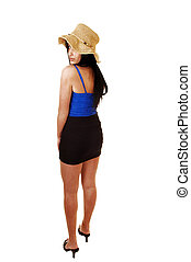 Teen girl standing.