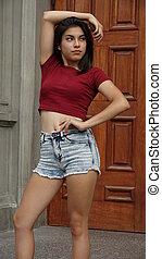 Teen Girl Standing Model Pose