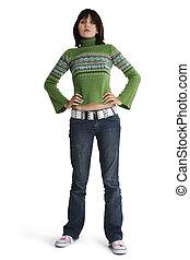 Teen Girl Standing