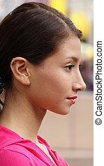 Teen Girl Staring
