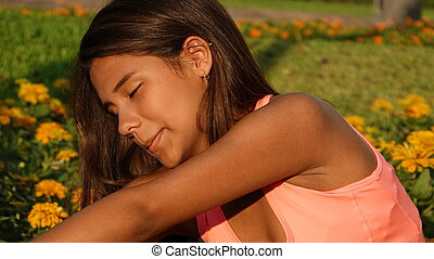 Teen Girl Stretching