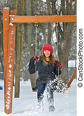 teen girl swing