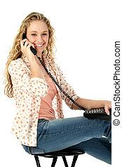 Teen Girl Telephone