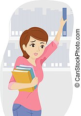 Teen Girl Wet Armpit - Illustration of a Teenage Girl...