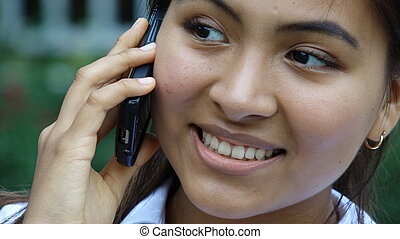 Teen Girl With Cell Phone