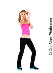 Teen girl zumba fitness