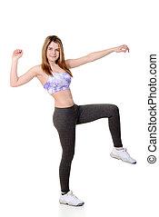 teen girl zumba workout