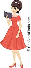 Teen Girls Dress Book Retro
