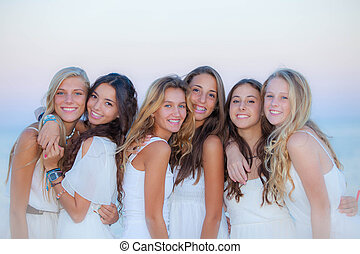 teen girls natural beauty in Ibiza