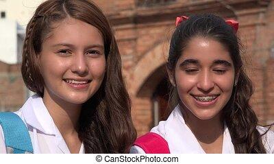 Teen Girls Smiling Teens