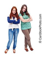 Teen girls standing
