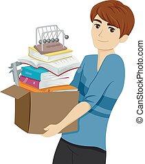 Teen Guy College Physics Box