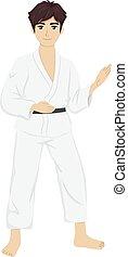 Teen Guy Judo
