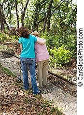 Teen Helping Senior