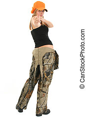 Teen in Camo - Beautiful 17 year old teen in camo overalls....