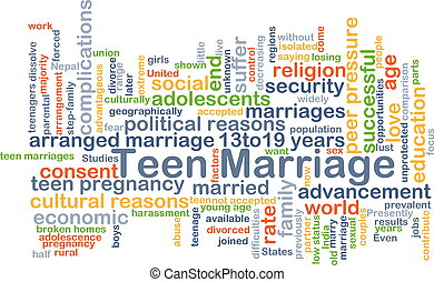 Teen marriage background concept