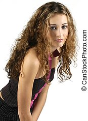 Teen Model 3 - Pretty teenage model with great hair