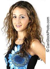 Teen Model 6 - Pretty teen model posing in studio
