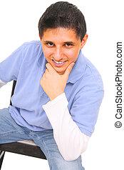 Teen Posing Sit Down