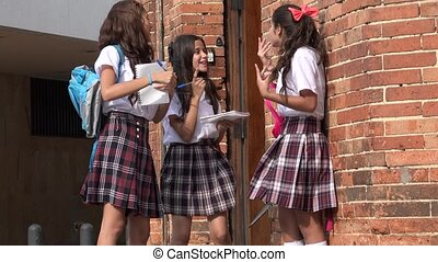 Teen School Girls Laughing