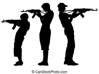 Teen whit gun
