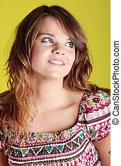 Teen woman