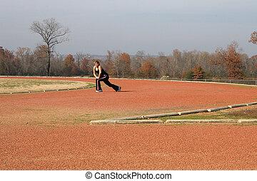 Teen Woman Track