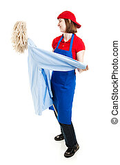 Teen Worker Dancing on the Job