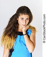 Teenage armenian girl portrait