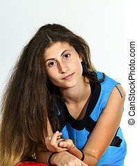 Teenage armenian girl portrait