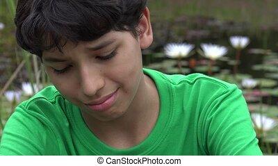 Teenage Boy Crying