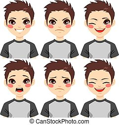 Teenage Boy Face Expressions