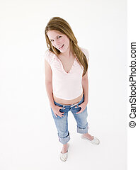 teenage dziewczyna uśmiechnięta