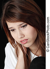 Teenage girl depression