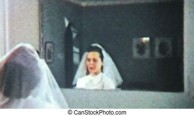 Teenage Girl First Communion-1958 - A pretty teenage girl...